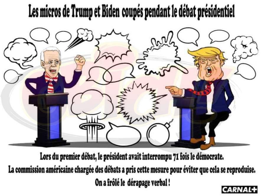 Donald Trump et Joe Biden en débat présidentiel
