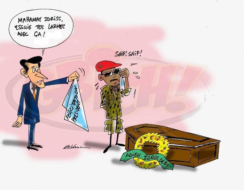 Macron console Idriss Mahamat