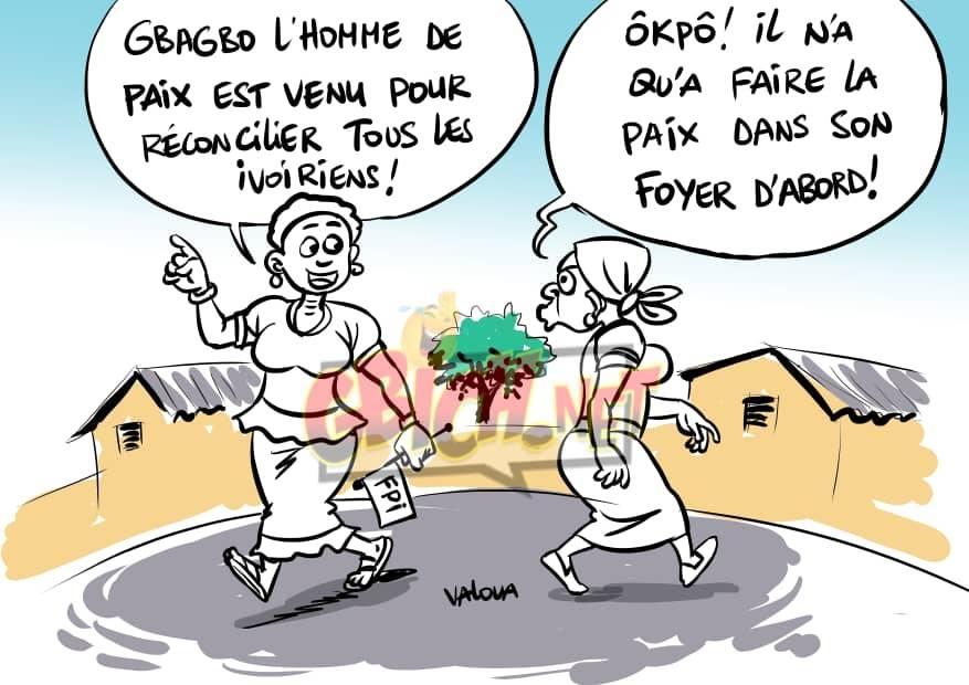Gbagbo et Nadia Bamba