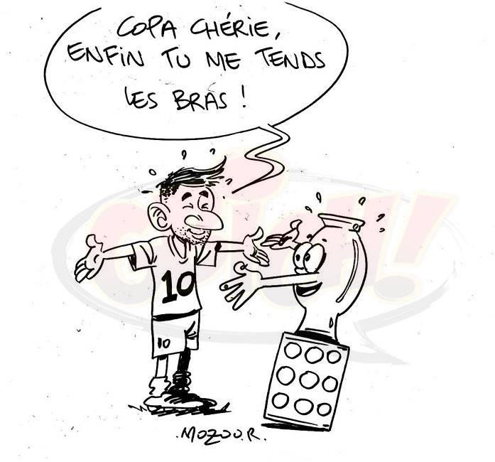 Messi reçoit la COPA