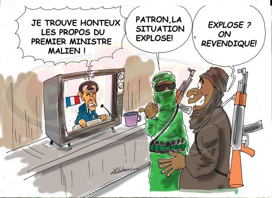 Macron crache au premier ministre Malien